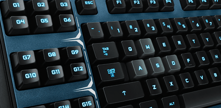 g510s Gaming Keyboard Features 18 Programmable G-keys