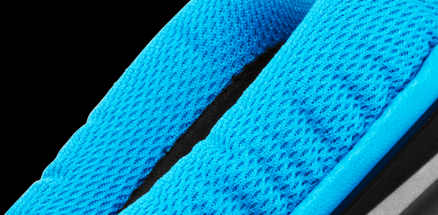 Sports performance ear pad close up