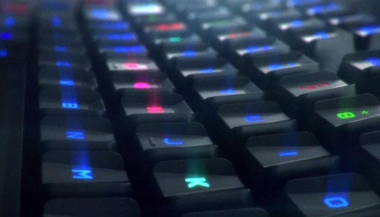 Color changing gaming keyboard