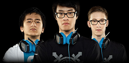 Three Logitech sponsored professional gamers