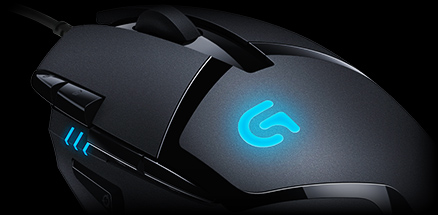 Angle view of G400 mouse