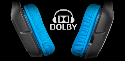 G430 earpieces and Dolby logo