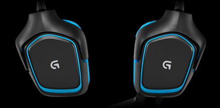 G430 earpieces swiveled 90 degrees