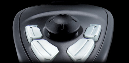 Close up Extreme 3D Pro's eight way hat switch