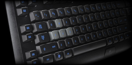 Angled view of G105 programmable G-keys