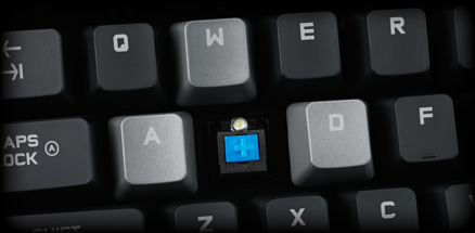 Close section of G710 plus keys