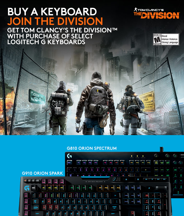 Purchase G810 or G910 get THE DIVISION