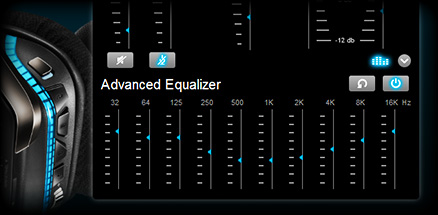 Close up of custom equalizer settings