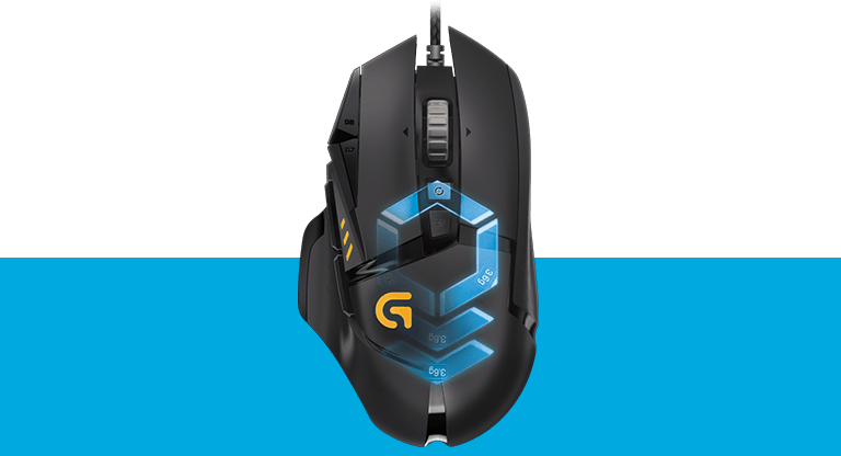 G502 Proteus Spectrum, RGB Tunable Gaming Mouse