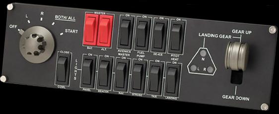 logitech  flight simulator aircraft switch panel